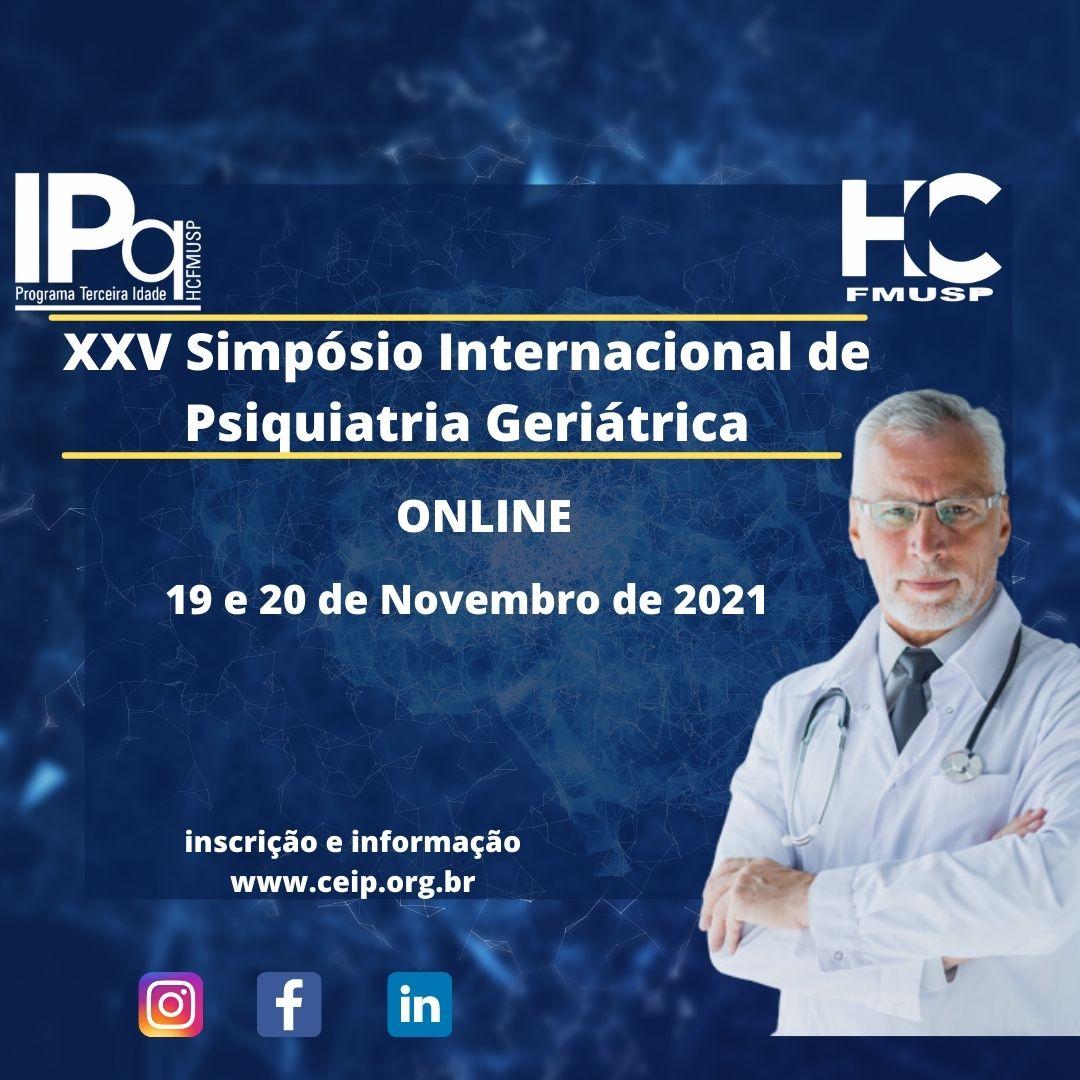 XXV Simpósio Internacional de Atualização em Psiquiatria Geriátrica